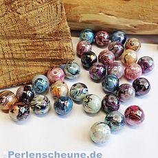 20 Schmuckperlen 12 mm Bastelperlen draw bench Kugeln Mix