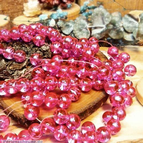 Perlenset 20 Glasperlen rosa cosmic style 10 mm Kugel