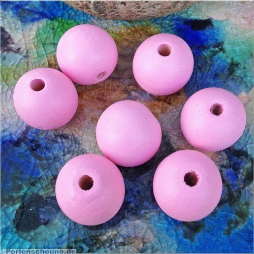 5 große Hinoki Holzperlen in rosa 24 mm Loch 4,5 mm