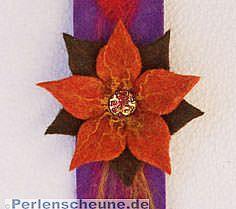 Armband mit Blüte handgefilzt