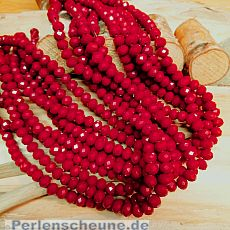 30 Glasperlen Abacus Faceted 8 x 6 mm weinrot