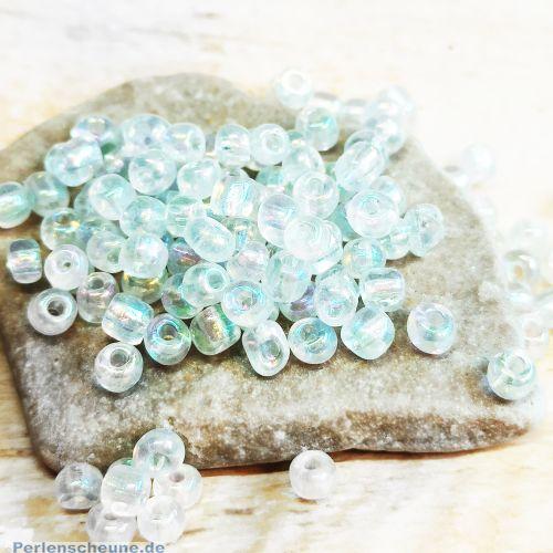 20 g Rocailles Glasperlen weiß feuerpoliert 3-4 mm