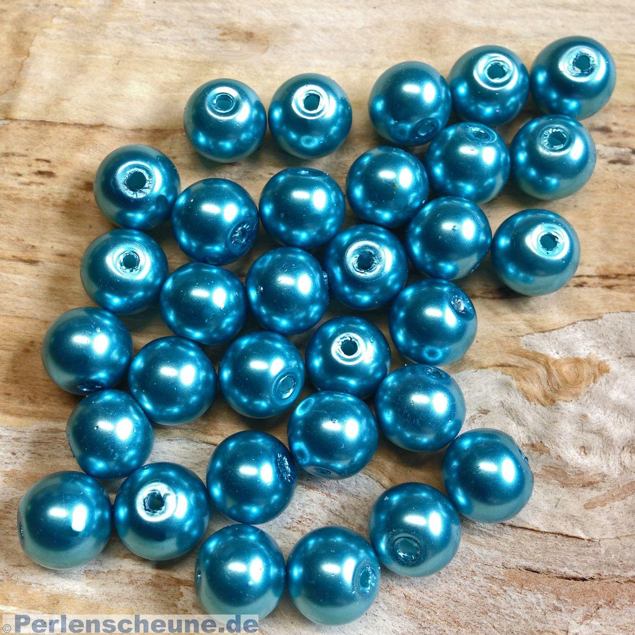 GLAS PERLEN MIX//PERLEN MIX 100 STück Glaswachsperlen 5mm schwarz