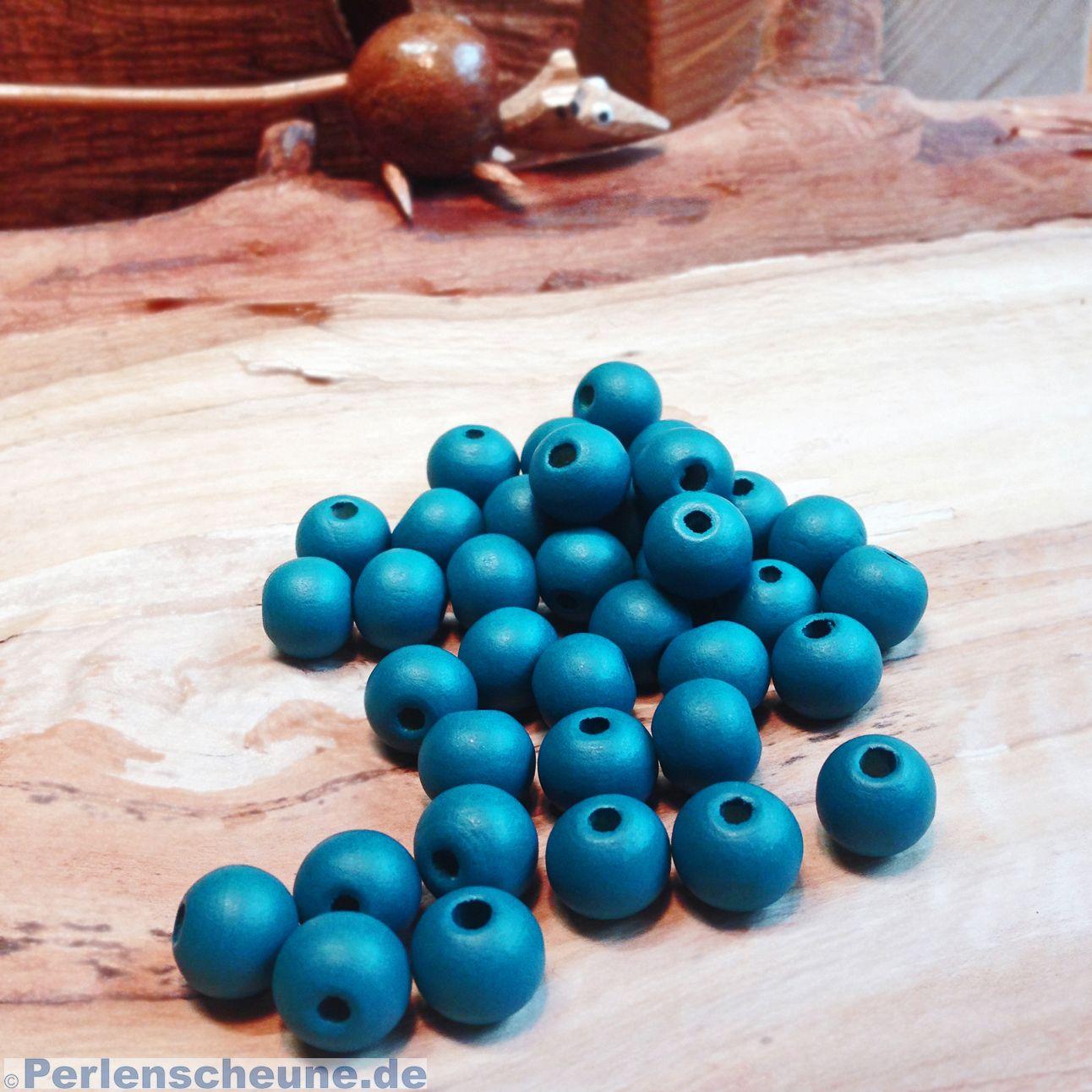 holzkugeln 10 mm f r kinderketten und zum basteln blau. Black Bedroom Furniture Sets. Home Design Ideas