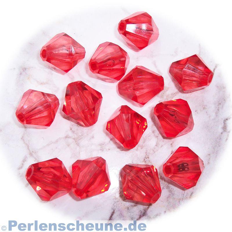 perlen als rhomben oder doppelkegel acrylperlen rot. Black Bedroom Furniture Sets. Home Design Ideas