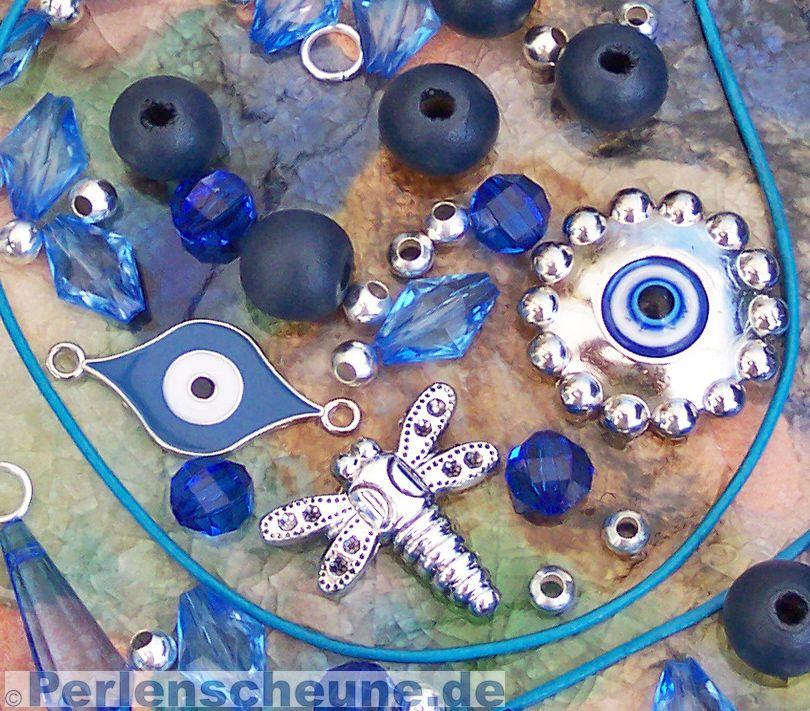 Kinderperlen Oder Kettenset Kettenbaustze Blau