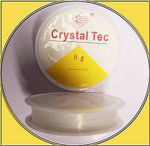 1 Rolle Perlschnur elastisch Crystal-Tec 0,5 mm 15 m