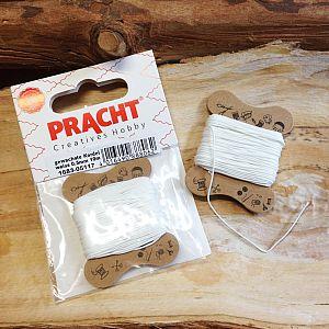 10 m Perlschnur 0,5 mm gewachste Kordel weiß