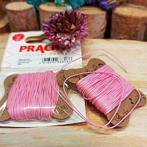 10 m Perlschnur 0,5 mm gewachstes Polyester rosa