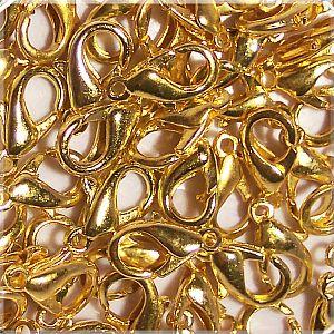 20 Karabinerhaken gold 12 mm