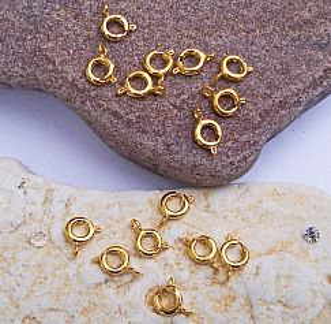 Set 20 Kettenverschlüsse gold 7 mm rund