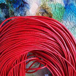 1 m Lederschnur Lederband 1,5 mm rot Lederschnüre