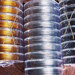 1 Rolle Draht ummantelt in antik silber 10 m