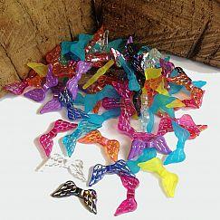 40 bunte Flügel Perlen 20 mm für Engel basteln
