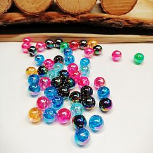30 mehrfarbig irisierende Perlen 8 mm rainbow