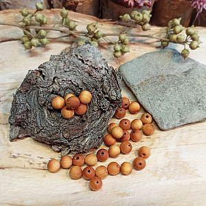 50 Holzperlen Naturperlen braun gemasert 6 mm