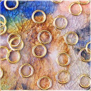 50 feste Metall Binderinge goldfarbig 10 mm außen
