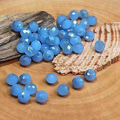 40 Glasperlen Abacus Faceted 4 x 3 mm gedecktes blau