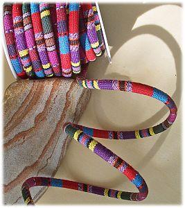 1 m Perlschnur für Modulperlen 0,6 cm bunt ethno-Look