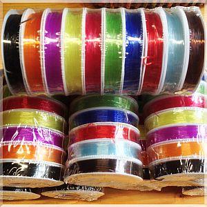 10 x 10 m Perlschnur 1,0 mm 10 Farben elastisch