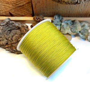 10 m Perlschnur 1 mm gewachste Baumwolle moosgrün