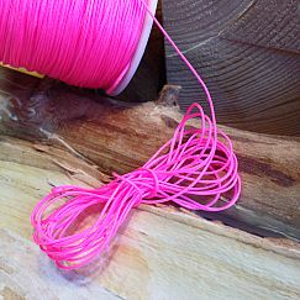 10 m abgemetert Perlschnur 0,8 mm neon pink