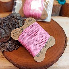 10 m gewachste Baumwolle rosa 0,5 mm auf Karte