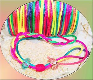 5 m Perlschnur Bastelschnur 2,5 mm Neonfarben