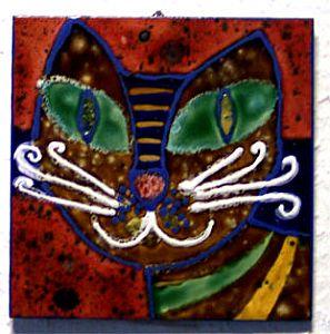 Einzelfliese Katzenkopf