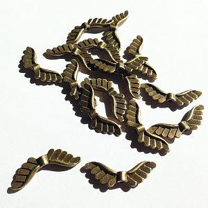 10 Stück Metallperlen Engelflügel bronze antik Flügelperlen