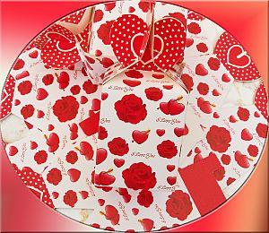5 super hübsche Schmuckschachteln mit Herzen 10 cm