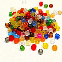 20 g Rocailles Glasperlen gefrostet 4 mm Loch 1 mm