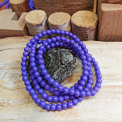 Perlenset 40 Glasperlen opak 6 mm lila violett
