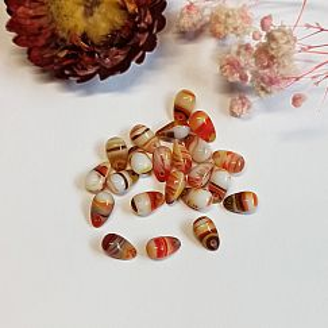 10 böhmische Glastropfen Perlen bunt 10 x 5 mm