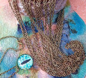 1 Gliederkette bronze antik mit Verschluss 38 cm lang