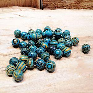 10 Halbedelsteinperlen Achat türkisblau 8 mm