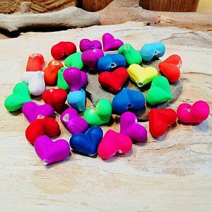 30 Perlen Neonfarben Perlenmischung 8 mm