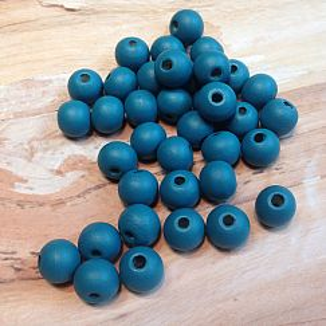 Holzkugeln Perlen blau