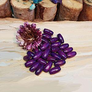 30 große Holzperlen violett 15 mm Olive
