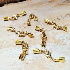 1 Komplettverschluss Karabinerhaken gold für Kette 1,5 - 3 mm