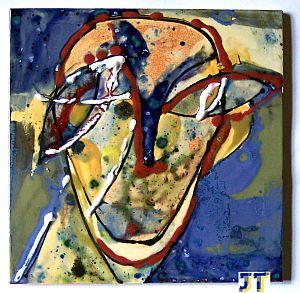 Einzelfliese Keramikfliese Kunst auf Fliese Kopf