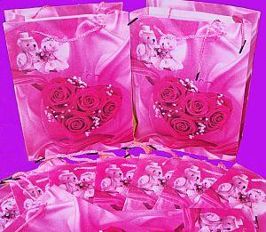 AUSVERKAUF 30 rosa Geschenktaschen 20 x 25 cm