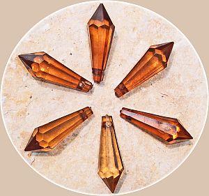 10 schöne große Teardrop Perlenset 30 mm Tropfen braun