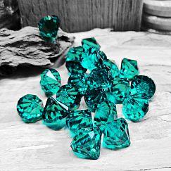 10 facettierte große Diamantimitat Anhänger Tropfen smaragd 15 mm