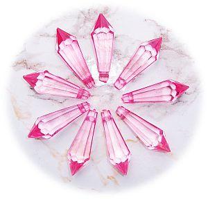 10 schöne große Teardrop Perlenset 30 mm rosa