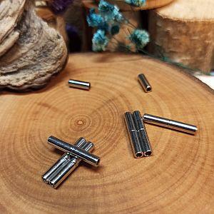 1 Magnetverschluss Walzenform zum einkleben 1,5 mm antik silber