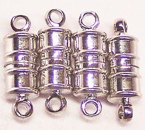 2 Magnetverschlüsse Walzenform 18 mm antik silber