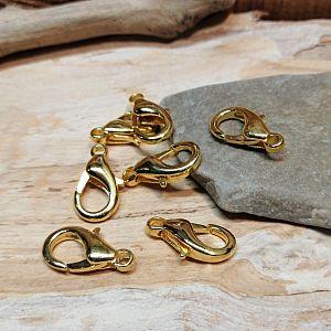 10 grosse Karabinerhaken gold 18 mm Kettenverschlüsse