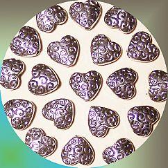 Set 10 Perlen Metallspacer Herzen antik silber 10 mm