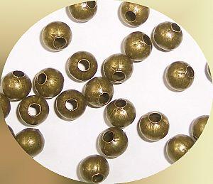 30 Metallperlen Metallspacer 6 mm bronze antik